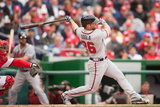 Apr 4, 2014, Atlanta Braves vs Washington Nationals - Dan Uggla Photographic Print by Mitchell Layton
