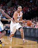 Mar 1, 2014, Denver Nuggets vs Portland Trail Blazers - Nicolas Batum Photographic Print by Sam Forencich