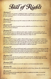Bill of Rights - U.S.A Pósters