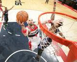 Apr 9, 2014, Charlotte Bobcats vs Washington Wizards - Marcin Gortat Photographie par Ned Dishman