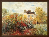 The Artist's Garden in Argenteuil Prints by Claude Monet