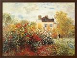 The Artist's Garden in Argenteuil Prints by Claude Monet