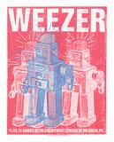 Weezer Sérigraphie par  Print Mafia
