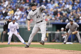 Apr 4, 2014, Chicago White Sox vs Kansas City Royals - Erik Johnson Photographic Print by John Williamson