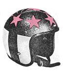 Lady Helmet Serigraph by  Print Mafia