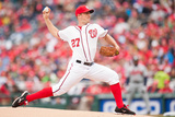 Apr 4, 2014, Atlanta Braves vs Washington Nationals - Jordan Zimmerman Photographic Print by Mitchell Layton