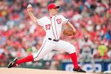Apr 4, 2014: Atlanta Braves vs Washington Nationals - Jordan Zimmermann Photographic Print by Mitchell Layton