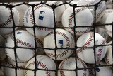 Apr 16, 2014, Washington Nationals vs Miami Marlins - Batting Practice Baseballs Photographic Print by Rhona Wise
