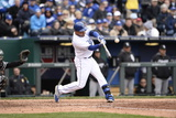 Apr 4, 2014, Chicago White Sox vs Kansas City Royals - Omar Infante Photographic Print by John Williamson