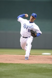 Apr 4, 2014, Chicago White Sox vs Kansas City Royals - Jeremy Guthrie Photographic Print by John Williamson