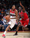 Apr 5, 2014, Chicago Bulls vs Washington Wizards - Trevor Ariza, Tony Snell Photographic Print by Ned Dishman