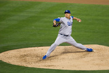 Mar 30, 2014, Los Angeles Dodgers vs San Diego Padres - Hyun-Jin Ryu Photographic Print by Rob Leiter