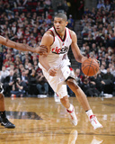 Feb 26, 2014, Brooklyn Nets vs Portland Trail Blazers - Nicolas Batum Photographic Print by Sam Forencich