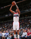 Apr 9, 2014, Charlotte Bobcats vs Washington Wizards - Trevor Ariza Photographic Print by Ned Dishman
