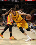 Mar 22, 2014, Houston Rockets vs Cleveland Cavaliers - Spencer Hawes Photographic Print by David Liam Kyle