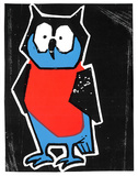 Night Owl Serigraph by  Print Mafia