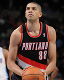 Feb 25, 2014, Portland Trail Blazers vs Denver Nuggets - Nicolas Batum Photographic Print by Garrett Ellwood