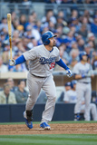 Mar 30, 2014, Los Angeles Dodgers vs San Diego Padres - Adrian Gonzalez Photographic Print by Rob Leiter