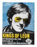 Kings of Leon Sérigraphie par  Print Mafia