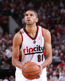 Apr 13, 2014, Golden State Warriors vs Portland Trail Blazers - Nicolas Batum Photographic Print by Sam Forencich