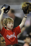 Apr 16, 2014, Washington Nationals vs Miami Marlins - Young Fan Photographic Print by Rhona Wise