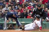 Apr 4, 2014, Milwaukee Brewers vs Boston Red Sox - Grady Sizemore, Aramis Ramirez Photographic Print by Winslow Townson