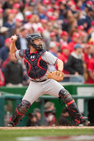 Apr 4, 2014, Atlanta Braves vs Washington Nationals - Evan Gattis Photographic Print by Mitchell Layton