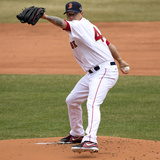 Apr 4, 2014, Milwaukee Brewers vs Boston Red Sox - Jake Peavy Photographic Print by Winslow Townson