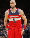 Jan 28, 2014, Washington Wizards vs Golden State Warriors - Marcin Gortat Photographic Print by Rocky Widner