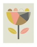 Scandi Flower Prints by  Little Design Haus