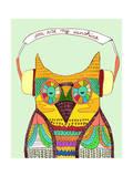 Owl Rustic Song Giclee Print by Budi Kwan