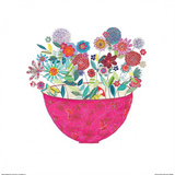 Pink Bowl Print by Kim Anderson