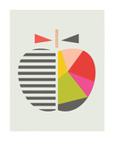 Geometric Apple Art by  Little Design Haus