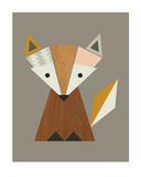Geometric Fox Plakaty autor Little Design Haus