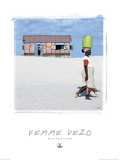 Femme Vezo Mada Posters af Philip Plisson