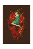 Sleeping on the Bed of Roses Giclee Print by Budi Kwan