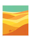 Desert Journey Giclee Print by Budi Kwan