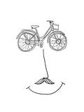 Happy Bicycle Giclee Print by Budi Kwan