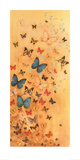 Butterflies on Warm Ochre Posters by Lily Greenwood