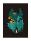 Wolf and Red Riding Hood Giclee Print by Budi Kwan