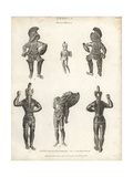 Ancient Bronzes of Warriors in Armor Giclee Print by T. Milton