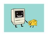 Mac and Cheese Giclee Print by Budi Kwan