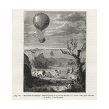 Jean-Pierre Blanchard and Dr Jeffries on their Balloon Giclee Print by E. Deschamps