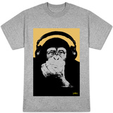 Steez - Heaphone Chimp Orange Shirts