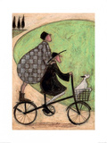 Double Decker Bike Print by Sam Toft