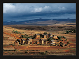 Madagascar, village d'Ambérobé Kunstdrucke von Pascal Maître