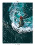 Von Wellen umspült Kunst von Philip Plisson