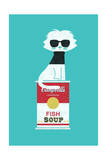 Andy Warhol Cat Giclee Print by Budi Kwan