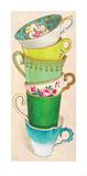 6 Tea Cups Poster von Andrea Letterie