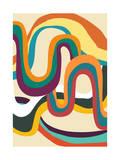 Groovy Rainbow of Doom Giclee Print by Budi Kwan